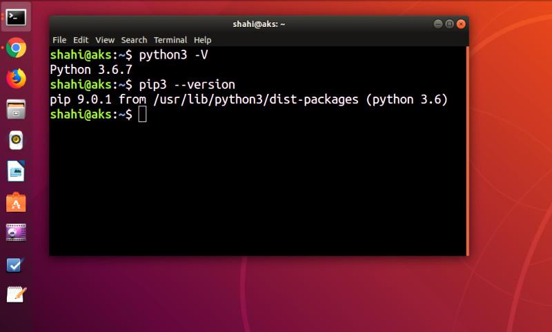 install python3 pip3 ubuntu 18