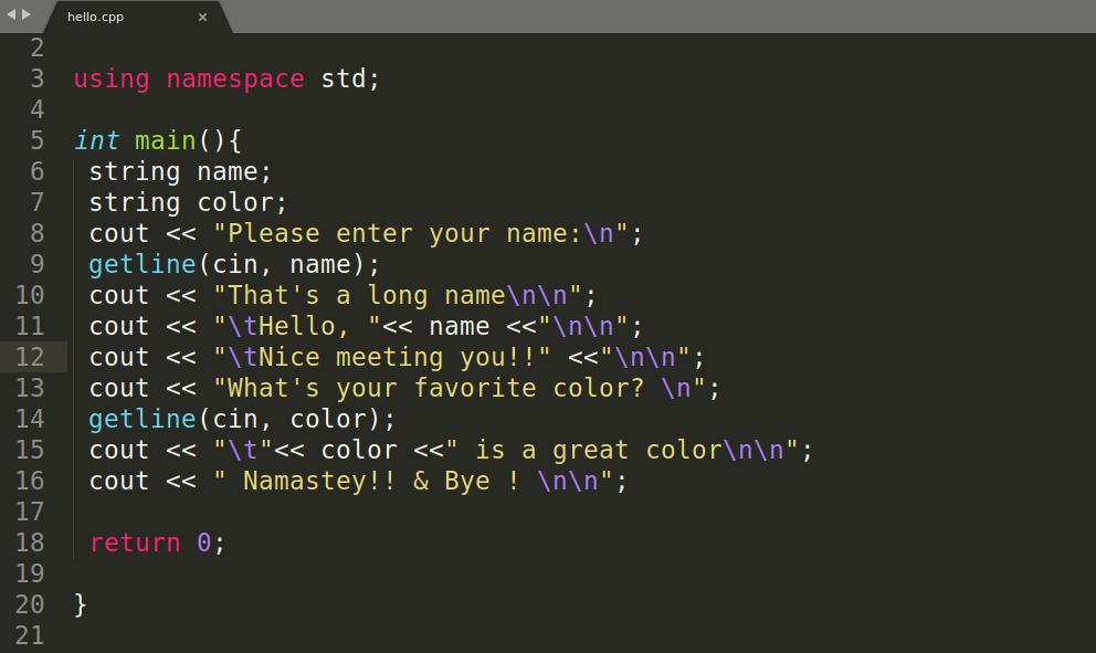 compile and run c++ code on ubuntu