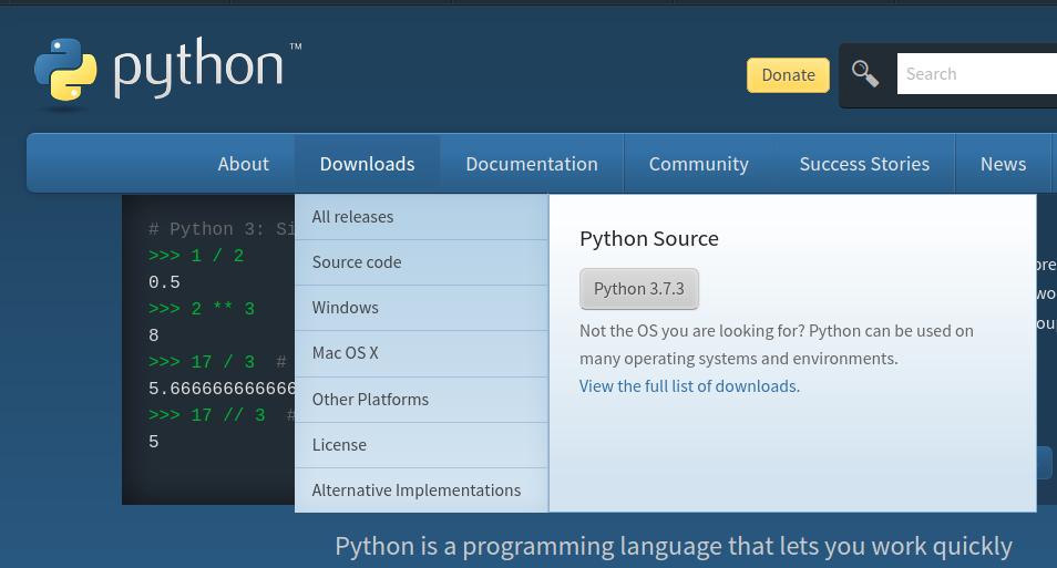 install python 3.7.3 on Windows 10
