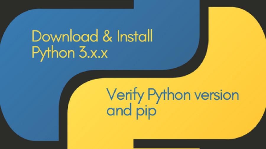 Download & install python 3.x