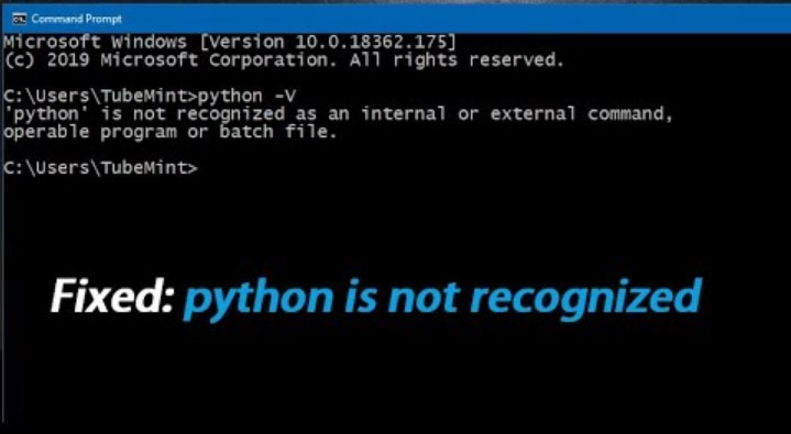 python is not recognized