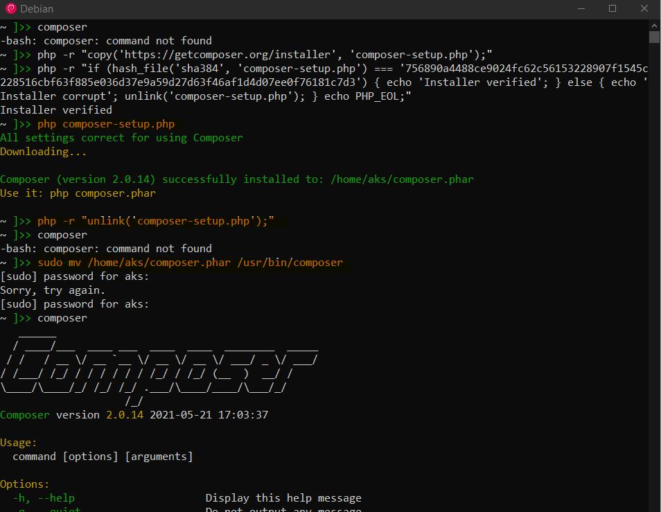 install composer 2 on ubuntu